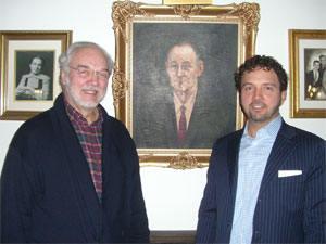 Dean Marchi (R), founder, Robert Marchi (L) and Lorenzo Marchi (painting)